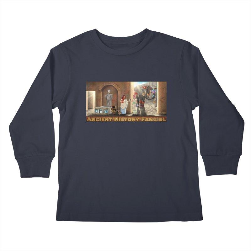 Fangirl Life Kids Longsleeve T-Shirt by ancienthistoryfangirl's Artist Shop