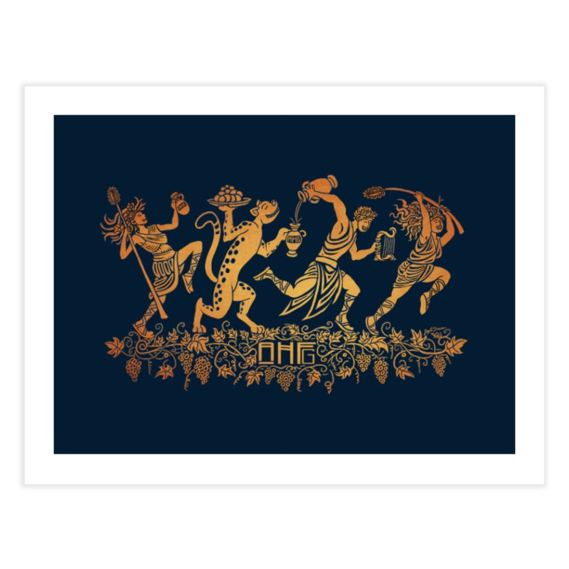 Dionysus and the Dancing Maenads Home Fine Art Print by ancienthistoryfangirl's Artist Shop