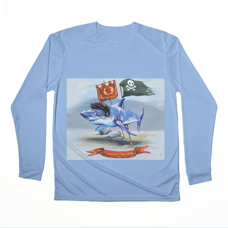 Pompey Shark (the Great) Women's Longsleeve T-Shirt by ancienthistoryfangirl's Artist Shop
