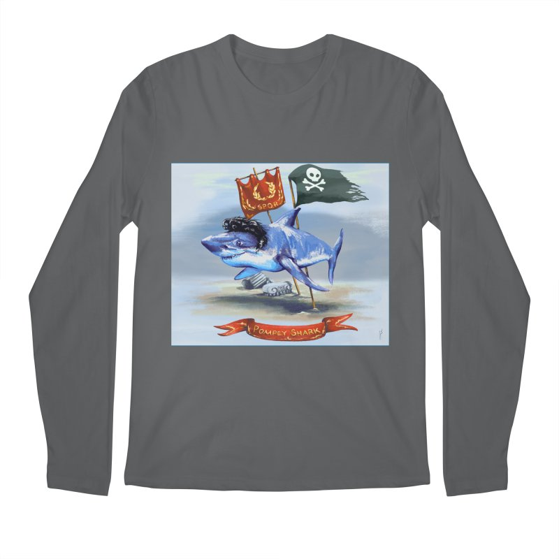 Pompey Shark (the Great) Men's Longsleeve T-Shirt by ancienthistoryfangirl's Artist Shop