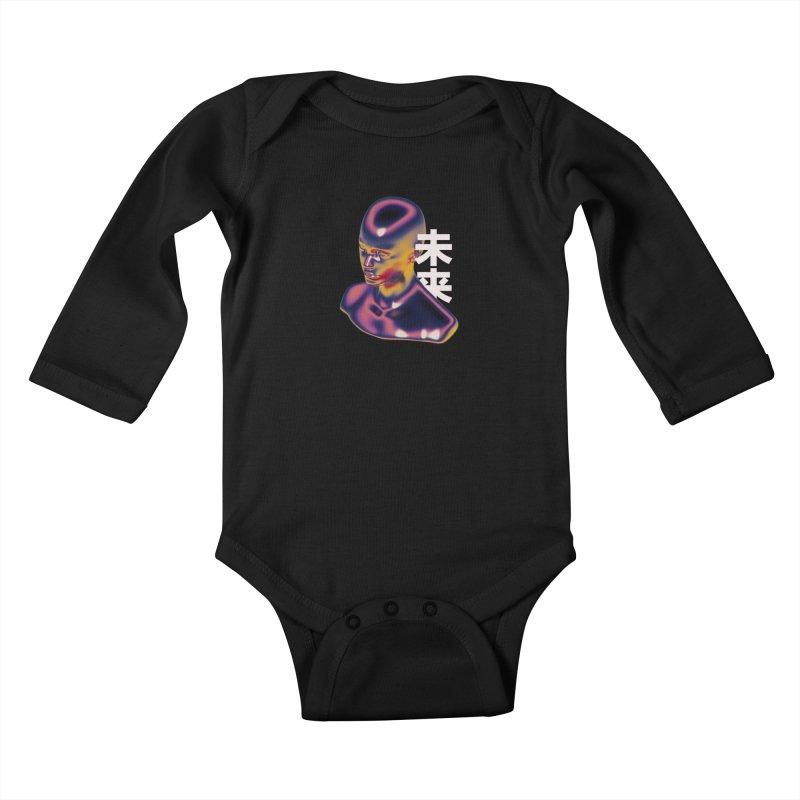 Weird Future Kids Baby Longsleeve Bodysuit by Sebastian Andaur