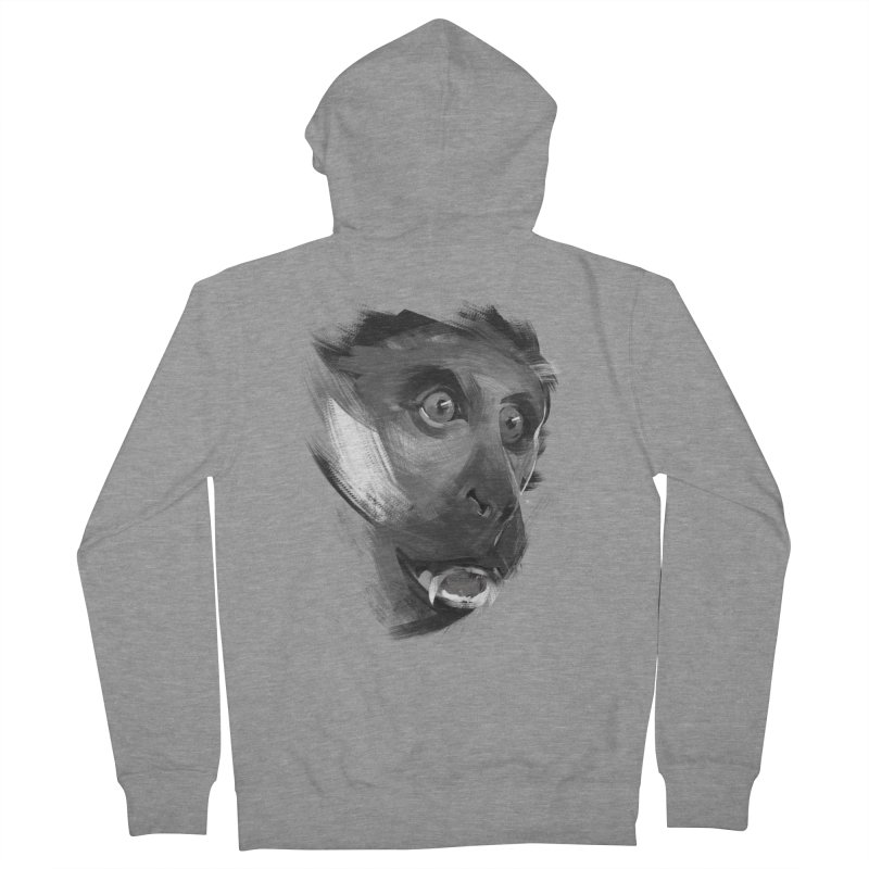 Monkey Men's Zip-Up Hoody by andias's Artist Shop