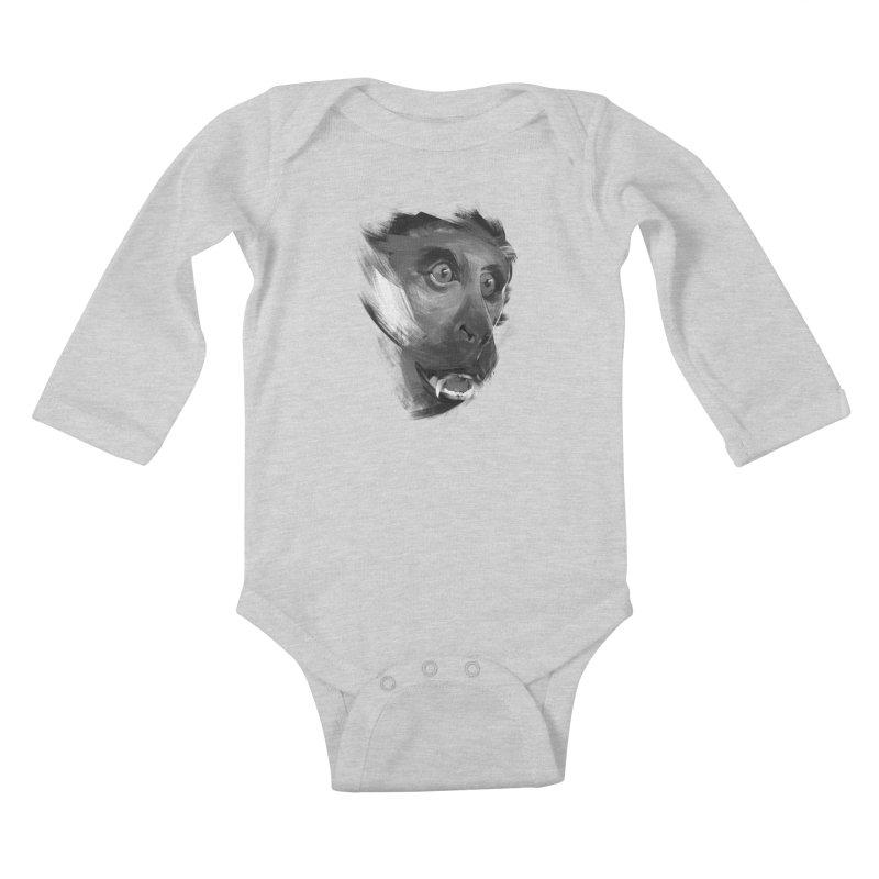 Monkey Kids Baby Longsleeve Bodysuit by andias's Artist Shop