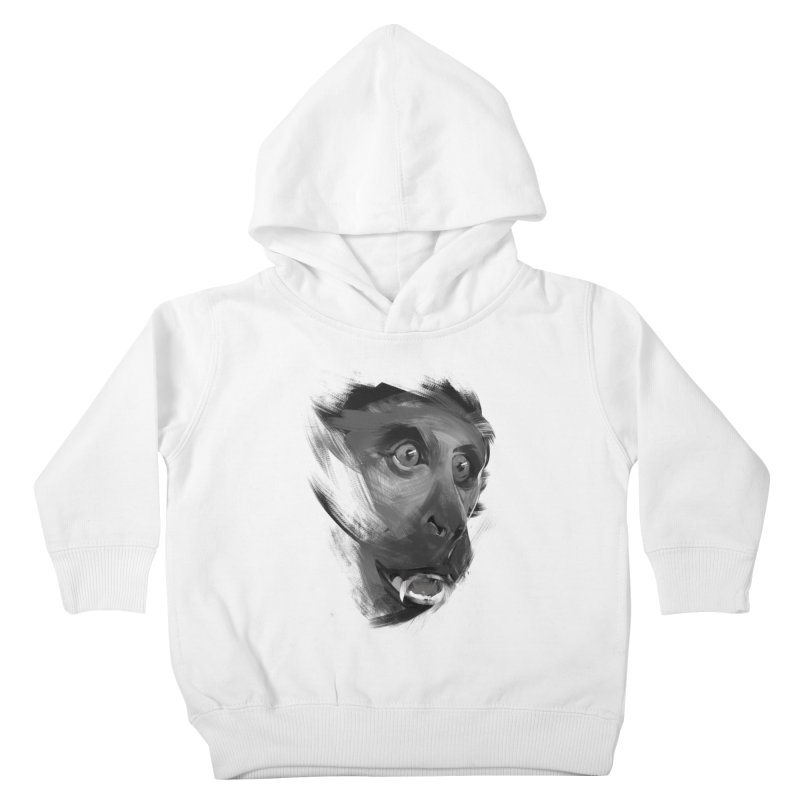 Monkey Kids Toddler Pullover Hoody by andias's Artist Shop