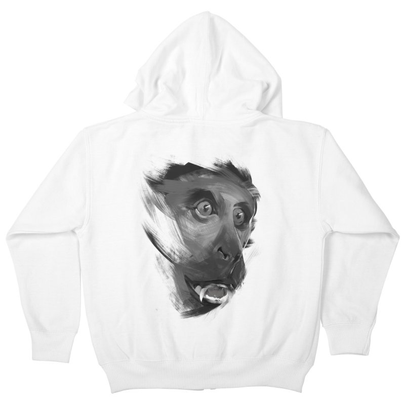 Monkey Kids Zip-Up Hoody by andias's Artist Shop