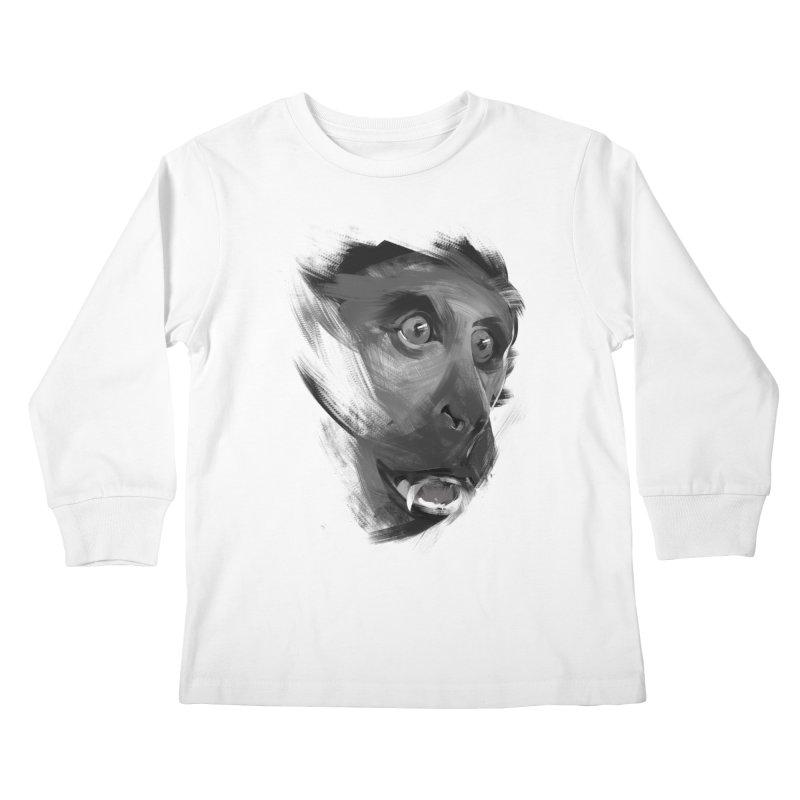 Monkey Kids Longsleeve T-Shirt by andias's Artist Shop