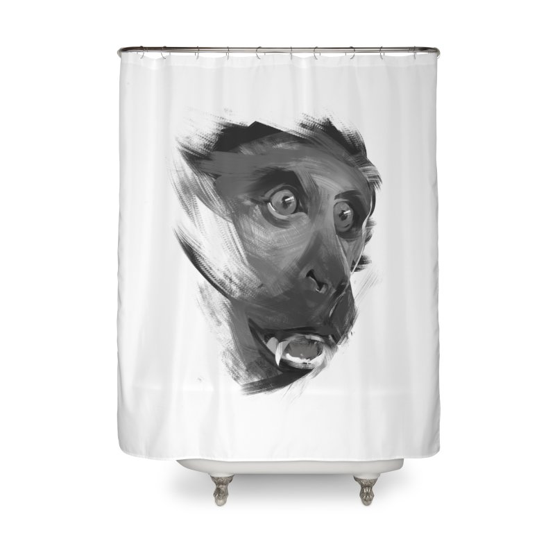 Monkey Home Shower Curtain by andias's Artist Shop