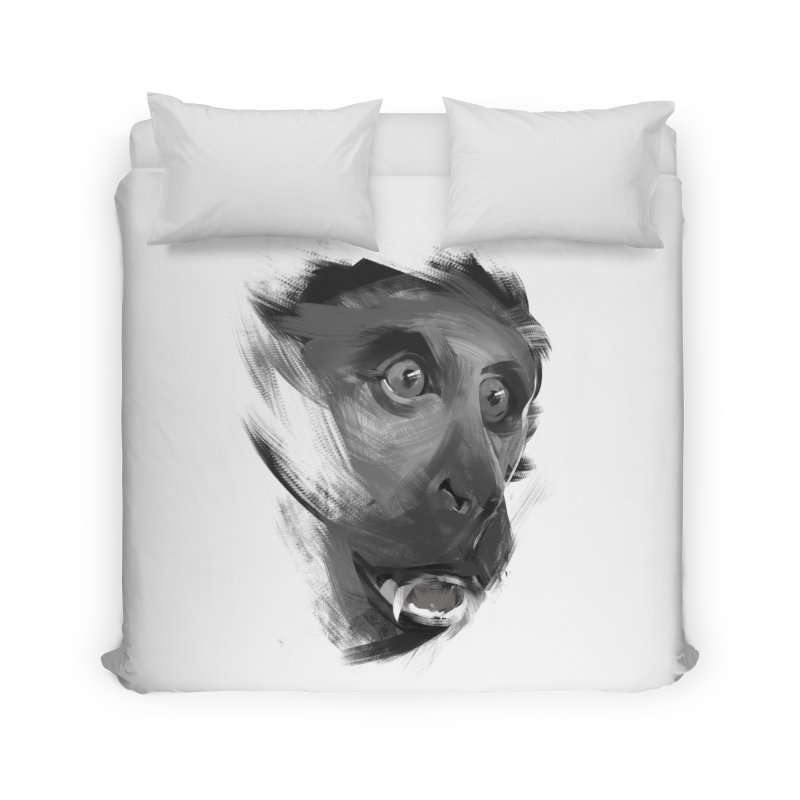 Monkey Home Duvet by andias's Artist Shop