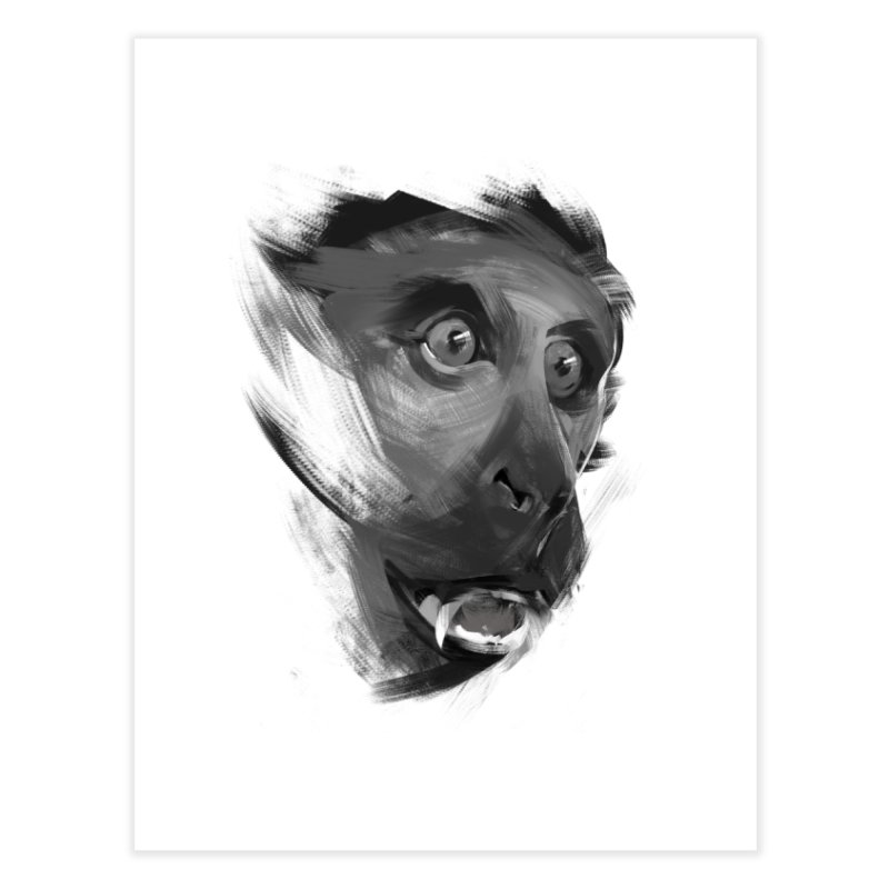 Monkey Home Fine Art Print by andias's Artist Shop