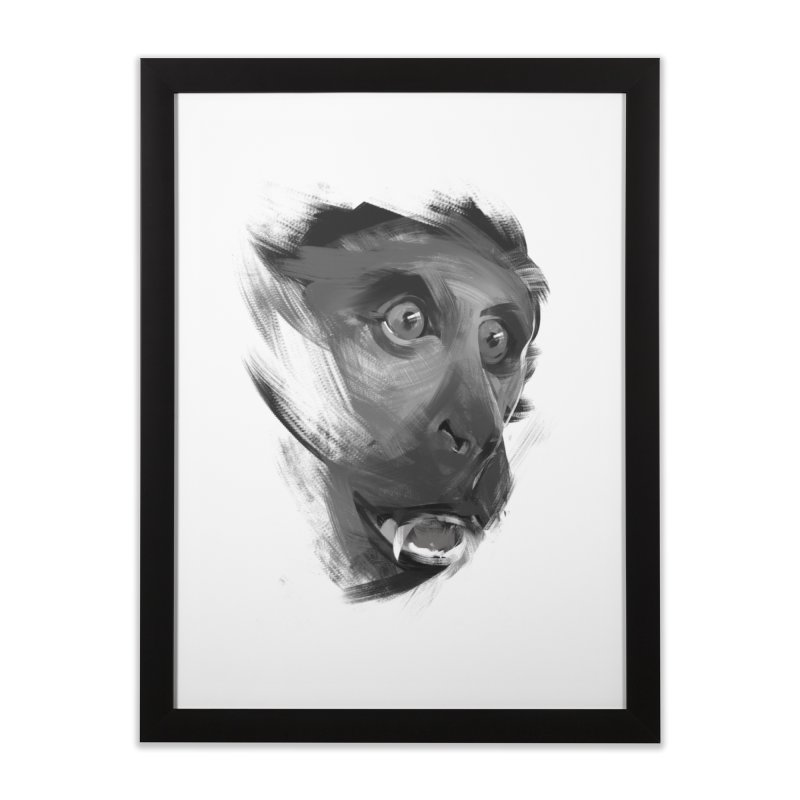 Monkey Home Framed Fine Art Print by andias's Artist Shop