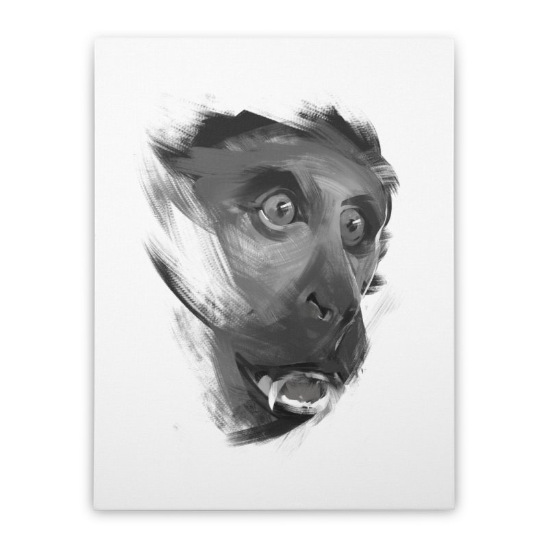 Monkey Home Stretched Canvas by andias's Artist Shop