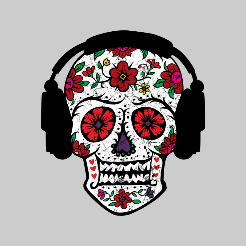 Sugar Skull Headphones by andibird's Artist Shop