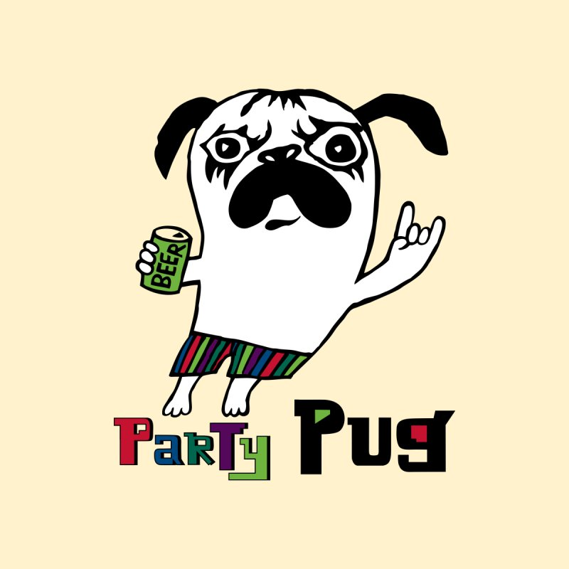 Party Pug by andibird's Artist Shop
