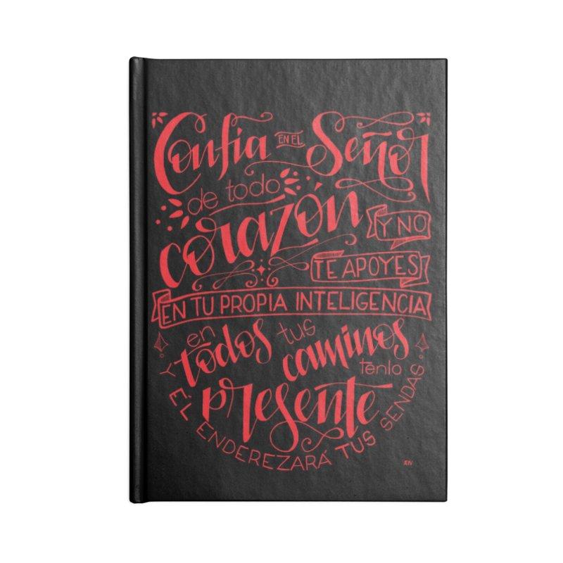 Confía en el Señor de todo corazón Accessories Lined Journal Notebook by Andrea Garrido V - Shop