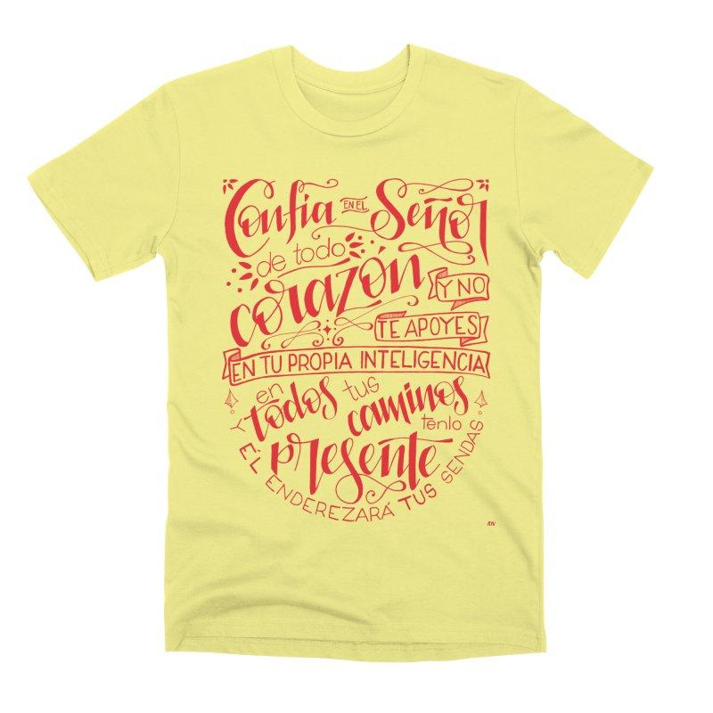 Confía en el Señor de todo corazón Men's Premium T-Shirt by Andrea Garrido V - Shop