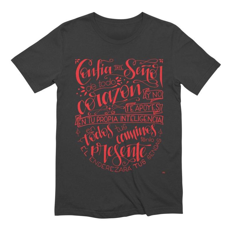 Confía en el Señor de todo corazón Men's Extra Soft T-Shirt by Andrea Garrido V - Shop