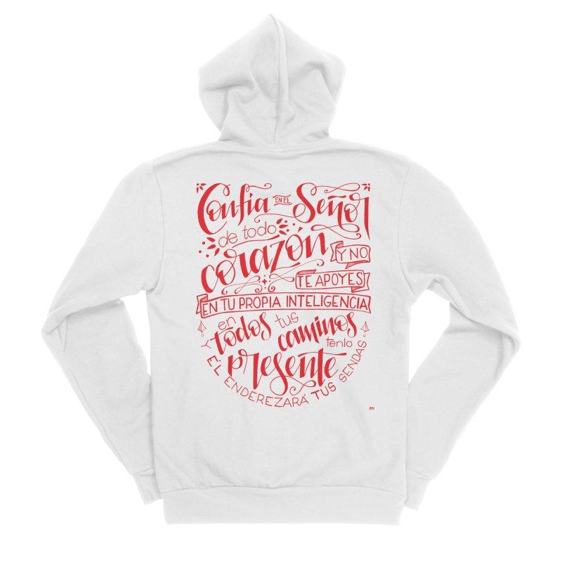 Confía en el Señor de todo corazón Women's Sponge Fleece Zip-Up Hoody by Andrea Garrido V - Shop