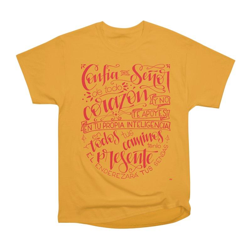 Confía en el Señor de todo corazón Men's Heavyweight T-Shirt by Andrea Garrido V - Shop
