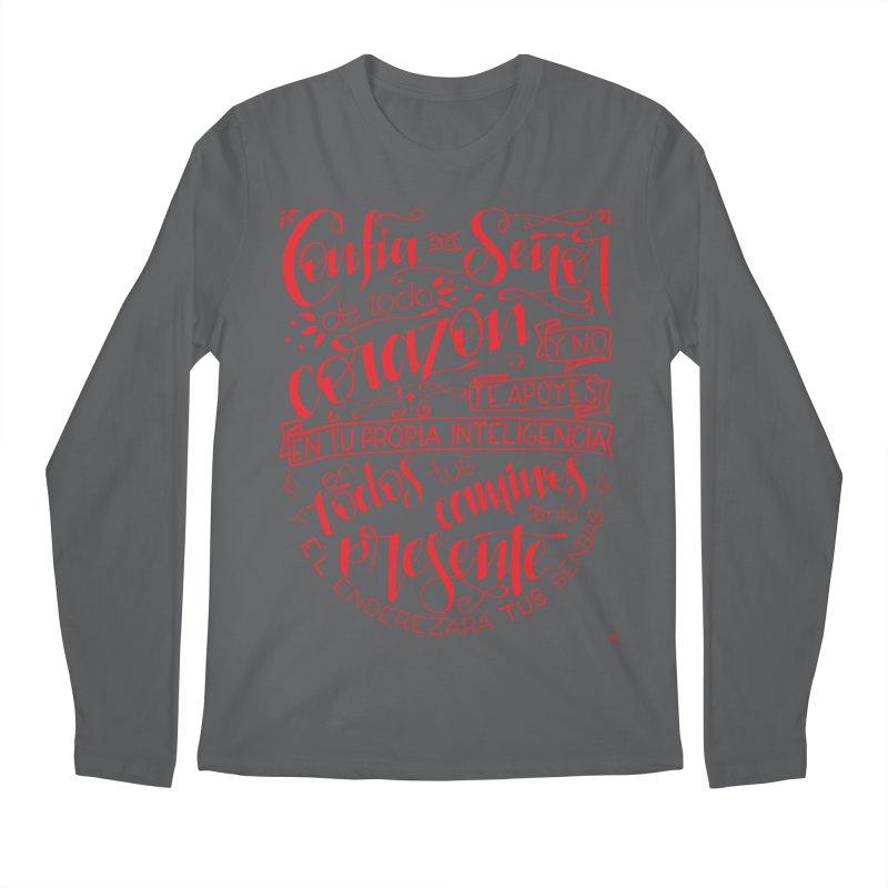 Confía en el Señor de todo corazón Men's Regular Longsleeve T-Shirt by Andrea Garrido V - Shop