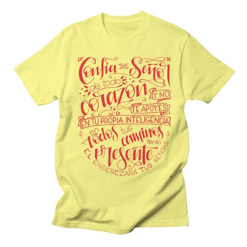 Confía en el Señor de todo corazón Men's T-Shirt by Andrea Garrido V - Shop