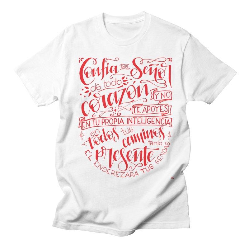 Confía en el Señor de todo corazón Men's Regular T-Shirt by Andrea Garrido V - Shop