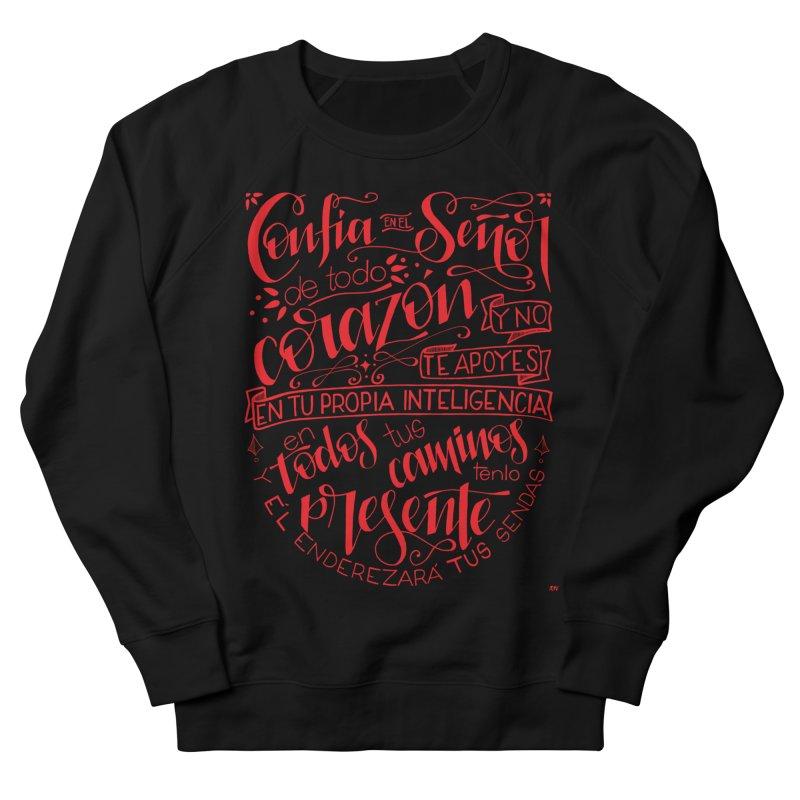 Confía en el Señor de todo corazón Men's French Terry Sweatshirt by Andrea Garrido V - Shop