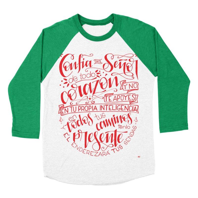 Confía en el Señor de todo corazón Women's Baseball Triblend Longsleeve T-Shirt by Andrea Garrido V - Shop