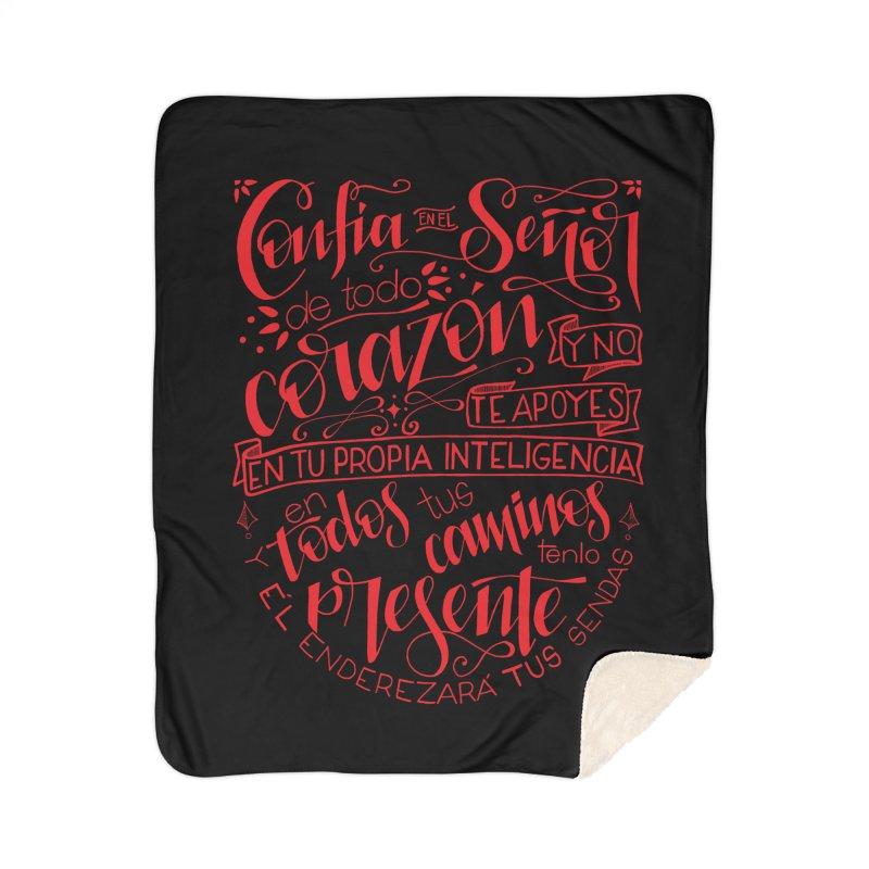 Confía en el Señor de todo corazón Home Sherpa Blanket Blanket by Andrea Garrido V - Shop