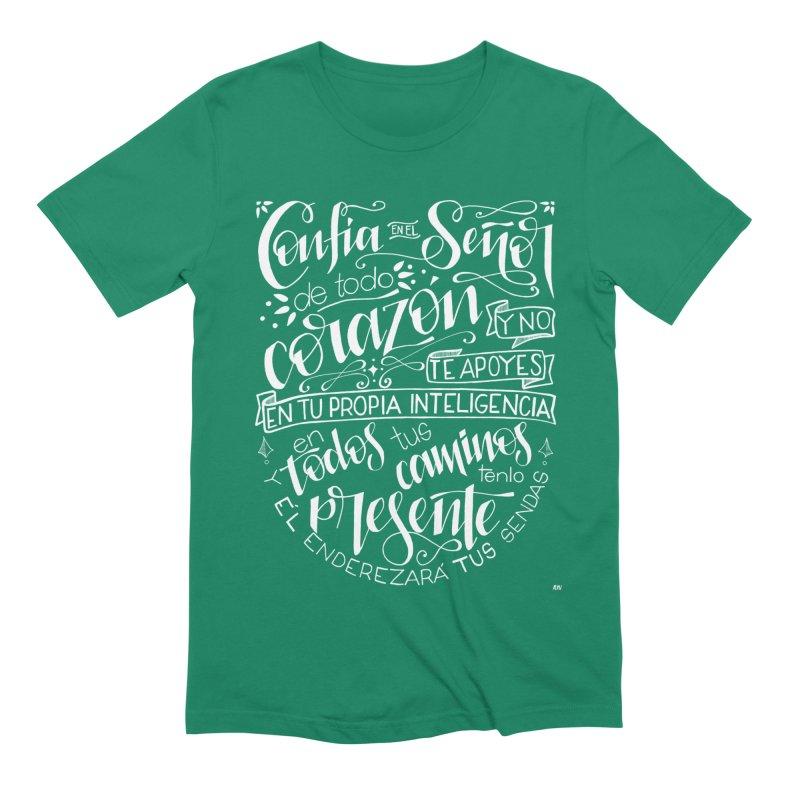 Confía en el Señor - Blanco Men's Extra Soft T-Shirt by Andrea Garrido V - Shop
