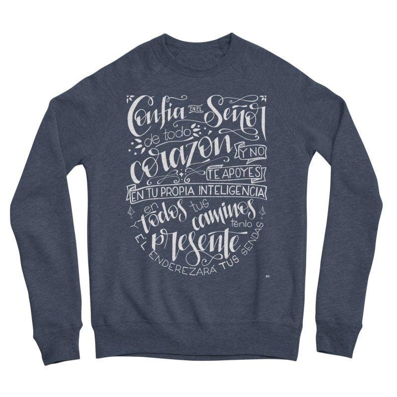 Confía en el Señor - Blanco Men's Sponge Fleece Sweatshirt by Andrea Garrido V - Shop