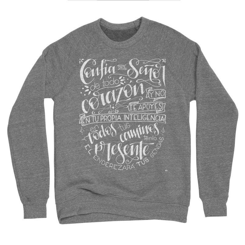 Confía en el Señor - Blanco Women's Sponge Fleece Sweatshirt by Andrea Garrido V - Shop