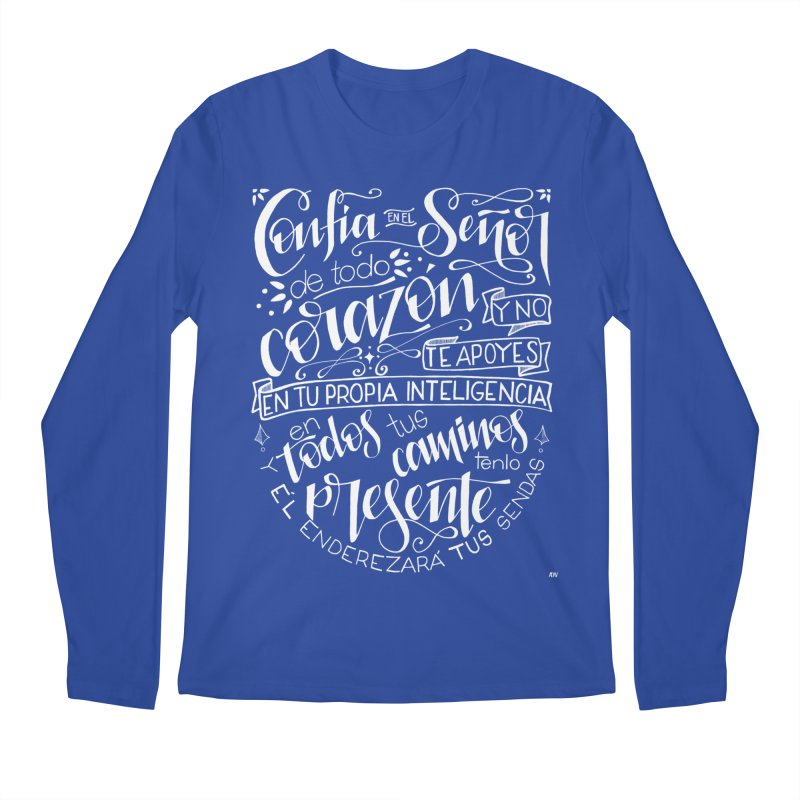 Confía en el Señor - Blanco Men's Regular Longsleeve T-Shirt by Andrea Garrido V - Shop