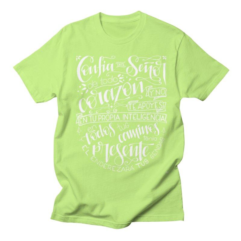Confía en el Señor - Blanco Men's Regular T-Shirt by Andrea Garrido V - Shop