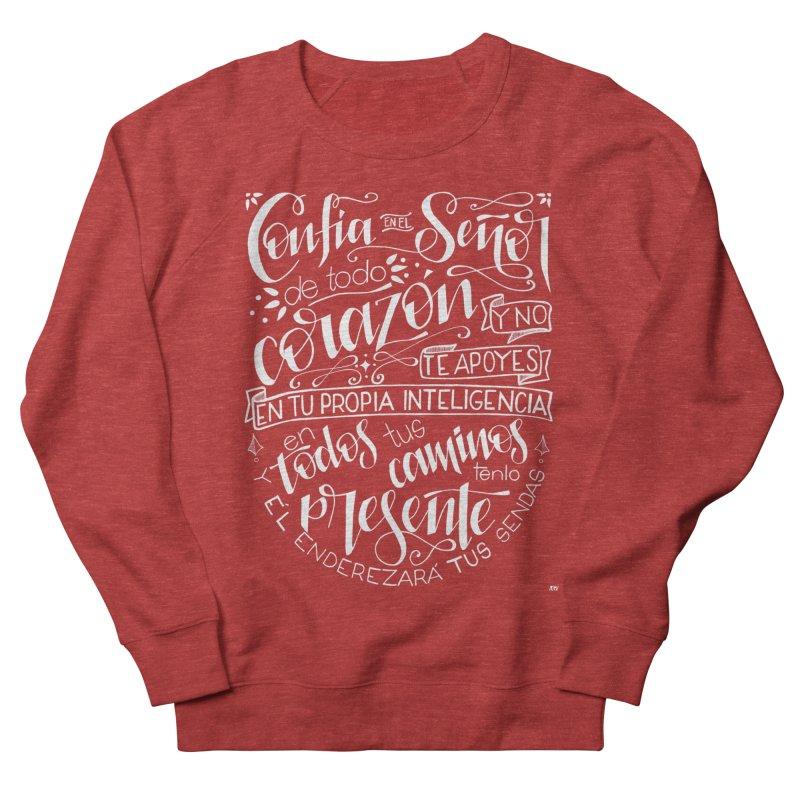 Confía en el Señor - Blanco Women's French Terry Sweatshirt by Andrea Garrido V - Shop