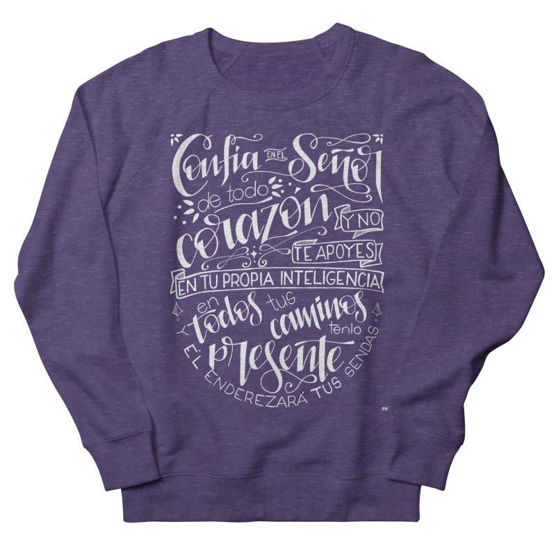 Confía en el Señor - Blanco Men's French Terry Sweatshirt by Andrea Garrido V - Shop