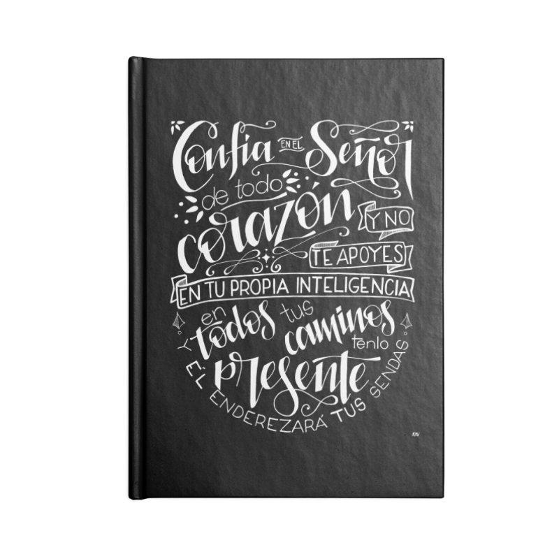 Confía en el Señor - Blanco Accessories Lined Journal Notebook by Andrea Garrido V - Shop