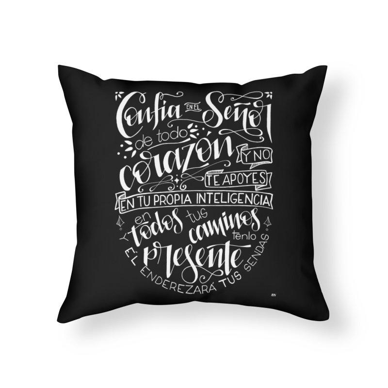 Confía en el Señor - Blanco Home Throw Pillow by Andrea Garrido V - Shop