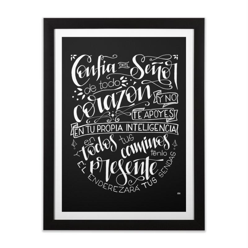Confía en el Señor - Blanco Home Framed Fine Art Print by Andrea Garrido V - Shop