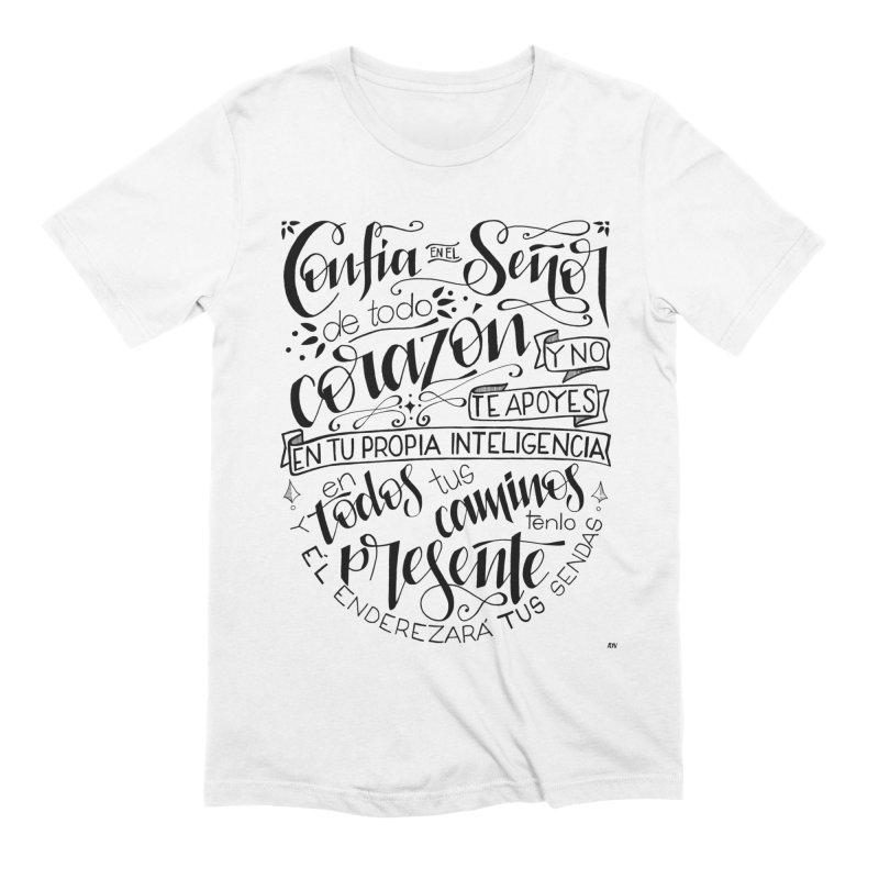 Confía en el Señor - negro Men's Extra Soft T-Shirt by Andrea Garrido V - Shop