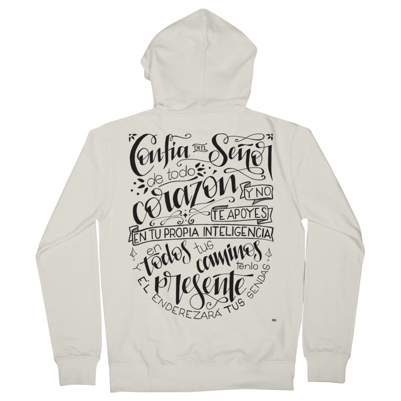 Confía en el Señor - negro Women's Zip-Up Hoody by Andrea Garrido V - Shop