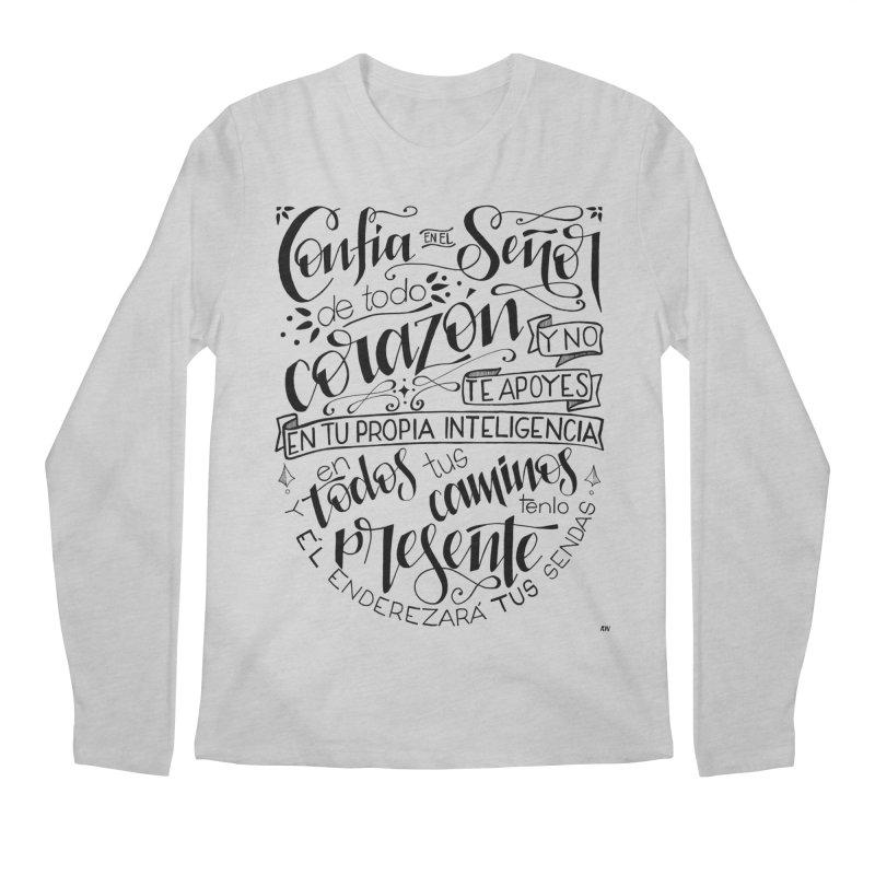 Confía en el Señor - negro Men's Regular Longsleeve T-Shirt by Andrea Garrido V - Shop