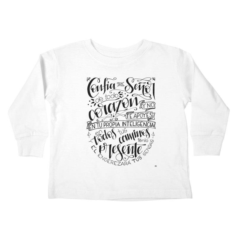 Confía en el Señor - negro Kids Toddler Longsleeve T-Shirt by Andrea Garrido V - Shop