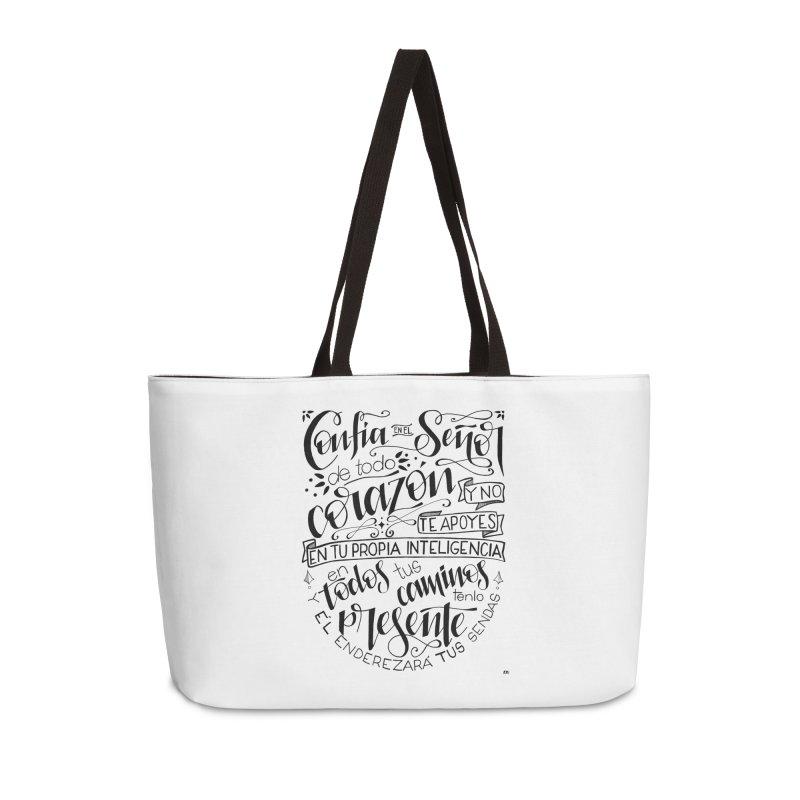 Confía en el Señor - negro Accessories Weekender Bag Bag by Andrea Garrido V - Shop