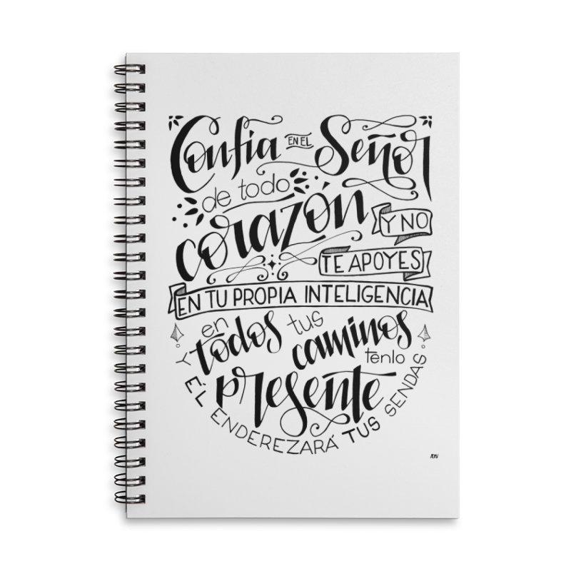 Confía en el Señor - negro Accessories Lined Spiral Notebook by Andrea Garrido V - Shop