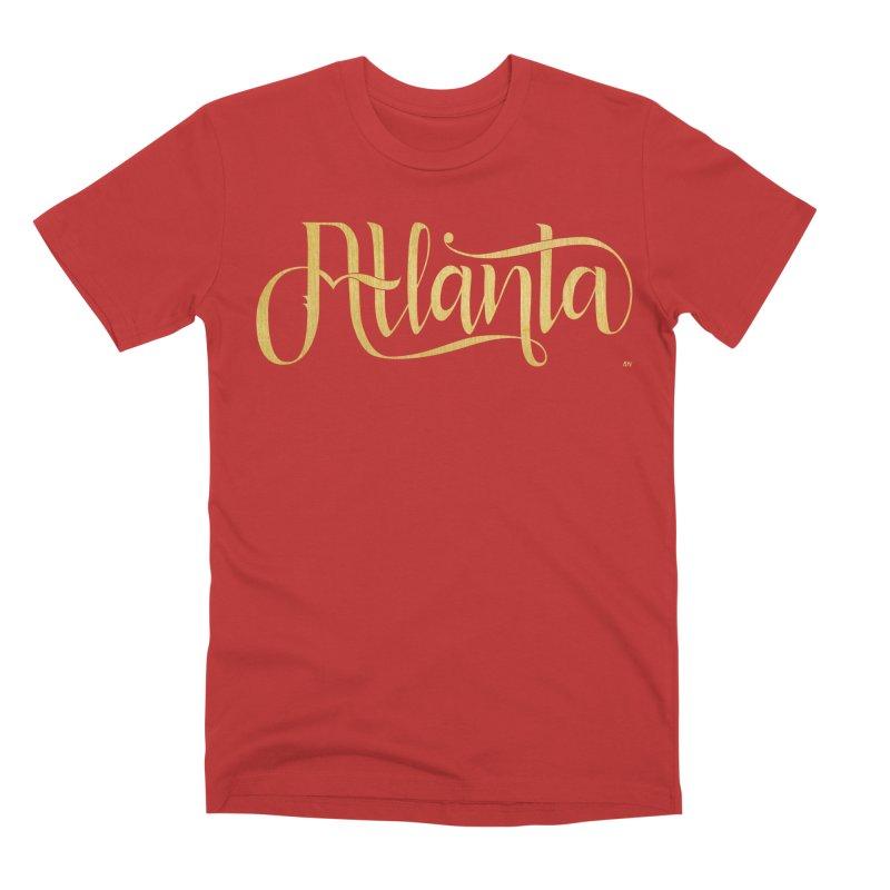 Golden Atlanta Men's Premium T-Shirt by Andrea Garrido V - Shop