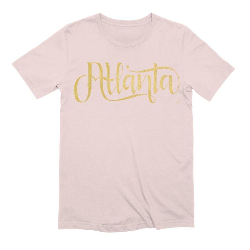 Golden Atlanta Men's Extra Soft T-Shirt by Andrea Garrido V - Shop