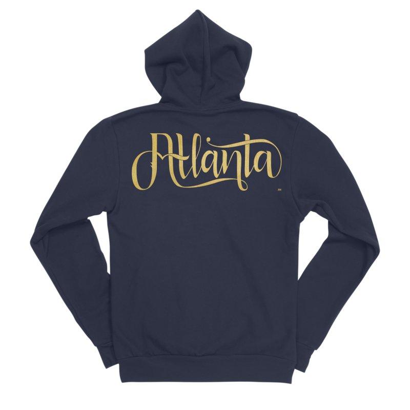 Golden Atlanta Men's Sponge Fleece Zip-Up Hoody by Andrea Garrido V - Shop