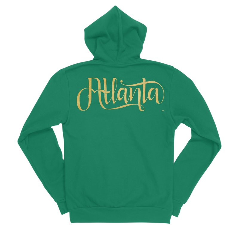 Golden Atlanta Women's Sponge Fleece Zip-Up Hoody by Andrea Garrido V - Shop