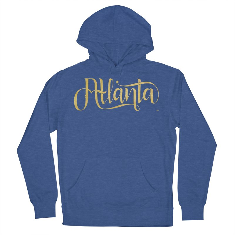 Golden Atlanta Men's French Terry Pullover Hoody by Andrea Garrido V - Shop