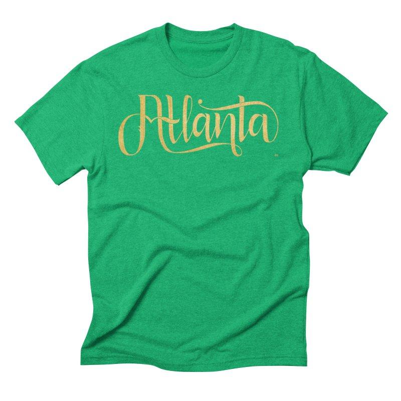 Golden Atlanta Men's Triblend T-Shirt by Andrea Garrido V - Shop